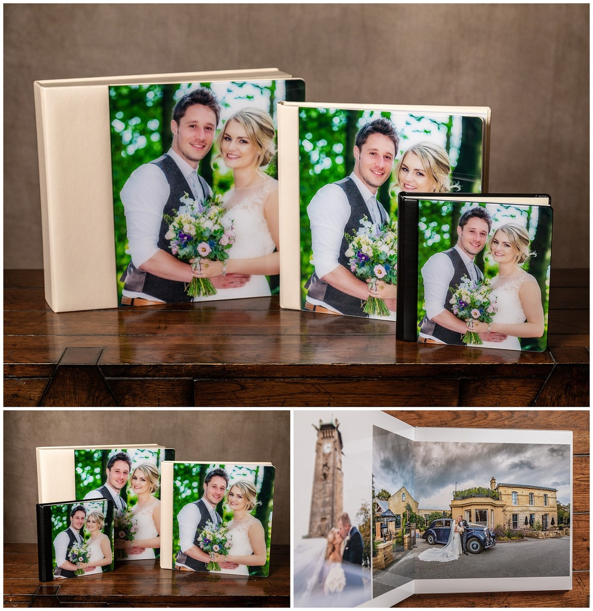 wedding photo album box crystal cover square album